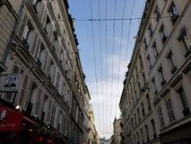 Preparándose para la Navidad en París, Francia imagen de archivo