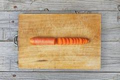 Preparação cortada da cenoura Fotografia de Stock Royalty Free