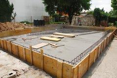 Preparação da fundação da casa fotografia de stock
