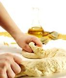 Preparação da massa de pão Imagens de Stock Royalty Free
