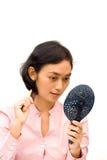 Preparação da mulher nova imagens de stock