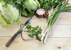 Preparação da salada Foto de Stock