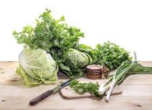Preparação da salada Fotos de Stock