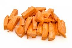 Preparação das microplaquetas doces 6 do potatoe Fotografia de Stock