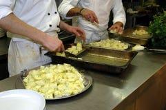 Preparação de alimento Imagens de Stock Royalty Free