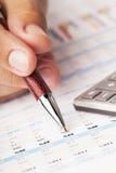 Preparação de balanços financeiros fotografia de stock