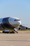 Preparação do avião para começar Imagens de Stock