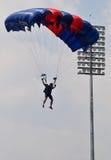 Preparação do campeonato de salto de paraquedas militar do mundo Fotografia de Stock