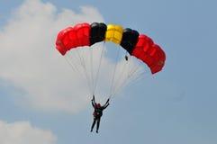 Preparação do campeonato de salto de paraquedas militar do mundo Imagens de Stock Royalty Free