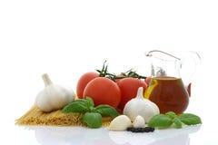 Preparação do espaguete Imagem de Stock Royalty Free