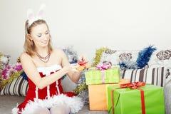 Preparação do Natal fotos de stock