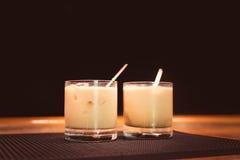 Preparação dos cocktail brancos do russo Foto de Stock