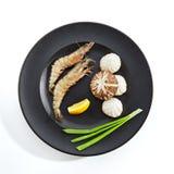 Preparação dos ingredientes para fritar em teppan Foto de Stock Royalty Free