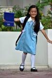Preparação Filipina Female Student Having Fun fotografia de stock royalty free
