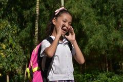 Preparação Filipina Girl Student Talking foto de stock