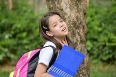 Preparação infeliz Filipina Girl Student foto de stock