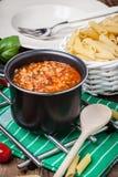 Preparação mediterrânea da refeição Foto de Stock Royalty Free
