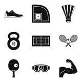 A preparação para ícones do campeonato ajustou-se, estilo simples ilustração do vetor