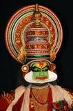 Preparação para a dança de KATHAKALI fotos de stock