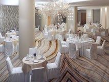 Preparação para o banquete elegante Foto de Stock Royalty Free