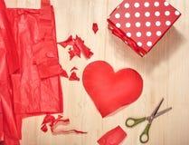 Preparação para o dia de Valentim Imagem de Stock