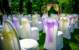 Preparação para um casamento Fotografia de Stock Royalty Free