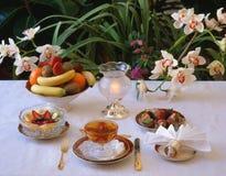 Preparações de Dessert.Reception. imagens de stock royalty free