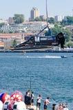 Preparações do barco da equipe EMIC Fotografia de Stock