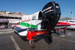 Preparações do barco de Team Abu Dhabi Fotos de Stock Royalty Free