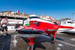 Preparações do barco de Team Abu Dhabi Foto de Stock