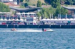 Preparações loucas-Croc do barco de Baba Racing Team Foto de Stock