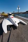 Preparações loucas-Croc do barco de Baba Racing Team Imagem de Stock Royalty Free
