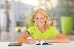 Preparación adolescente de la muchacha Foto de archivo libre de regalías