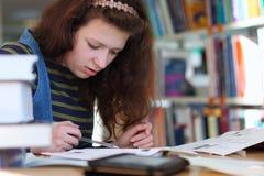 Preparación al examen Foto de archivo libre de regalías