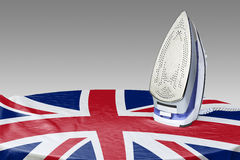 Preparación allanar las arrugas del Bandera-GB Fotos de archivo