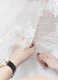 Preparación a casarse Foto de archivo libre de regalías