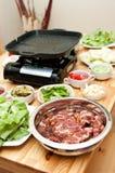 Preparación de alimento coreana foto de archivo libre de regalías