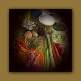 Preparación de comida para la cena del cocinero Imagen de archivo libre de regalías