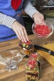 Preparación de cotos del dulce Fotos de archivo