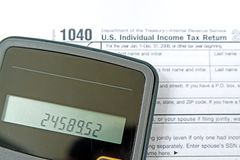 Preparación de impuestos Imagenes de archivo