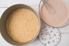 Preparación de la empanada Imagenes de archivo