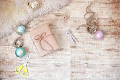 Preparación de la Navidad de la tarjeta de felicitación Imagenes de archivo