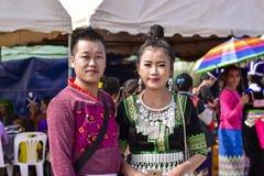 Preparación de la tradición de los hombres y de las mujeres de Hmong Fotografía de archivo