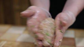 Preparación de las albóndigas hechas en casa metrajes