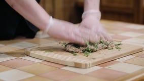 Preparación de las albóndigas hechas en casa almacen de metraje de vídeo