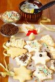 Preparación de las galletas de la Navidad Foto de archivo libre de regalías