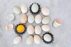 Preparación de los huevos Foto de archivo
