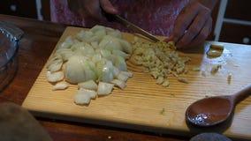 Preparación de los ingredientes para la calabaza gingered metrajes