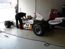 Preparación de McLaren M19C Foto de archivo