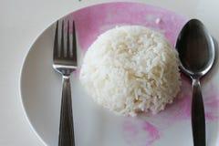 Preparación de Tailandia del arroz para el almuerzo Fotos de archivo libres de regalías